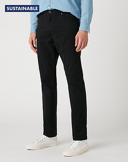 Texas Slim Trousers in Black