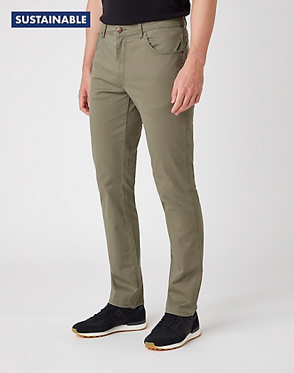 Texas Slim Trousers in Dusty Olive