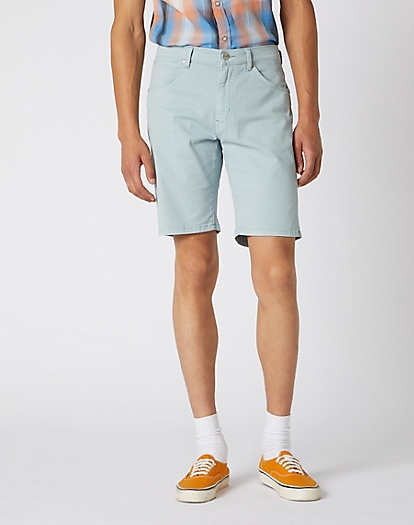5 Pocket Short in Mist Blue