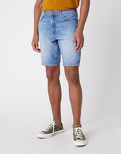 5 Pocket Denim Shorts in Rave Cave