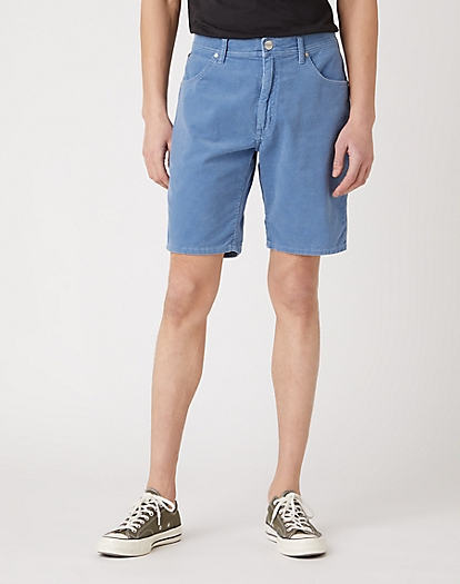 Corduroy Shorts in Copen Blue