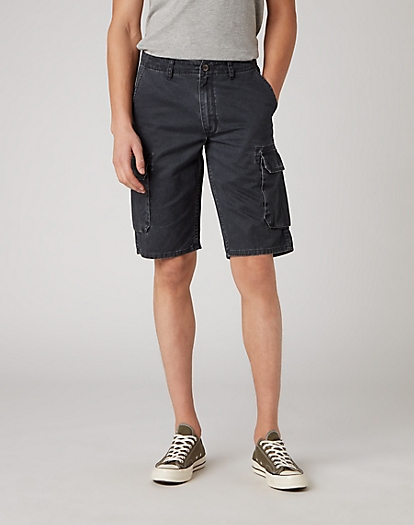 Cargo Short in Faded Black
