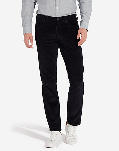 Greensboro Corduroy Trouser in Dark Navy