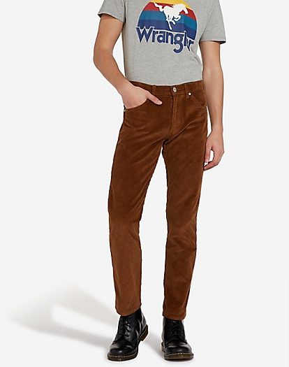 Greensboro Corduroy Trouser in Russet Brown
