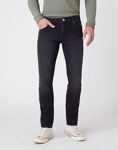 Larston Midweight Jeans in Black Shadow