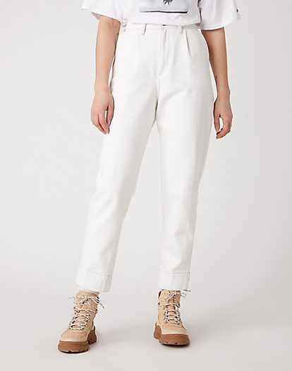 Mom Chino Jeans in Winter White