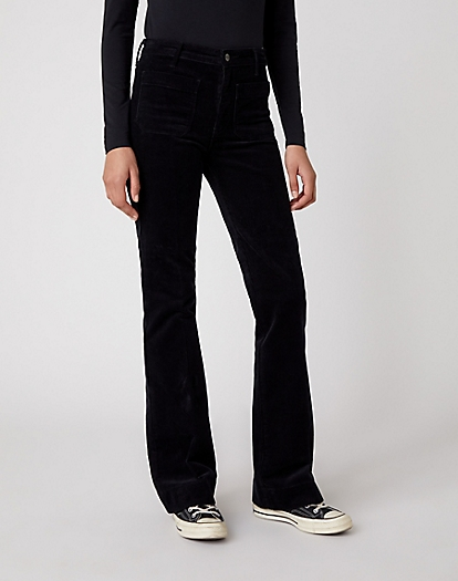 Flare Trouser in Black