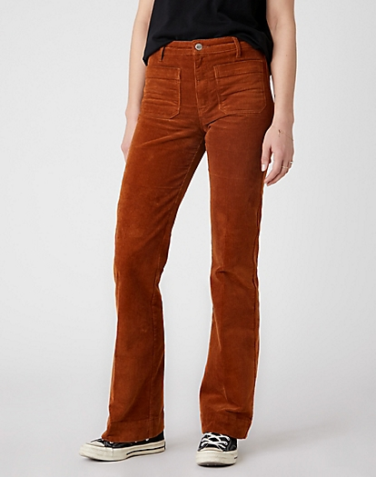 Flare Trouser in Tobacco Brown