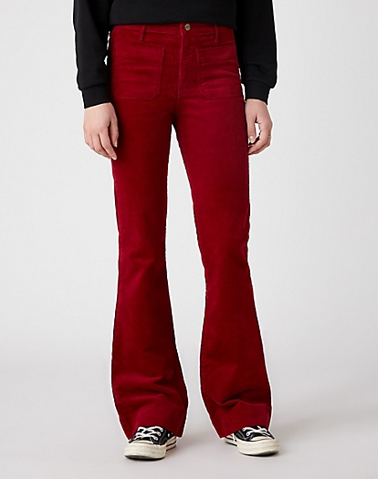 Flare Trouser in Rumba Red