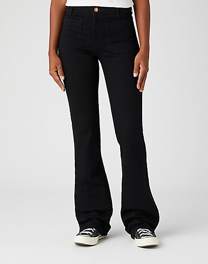 Flare Jeans in Retro Black