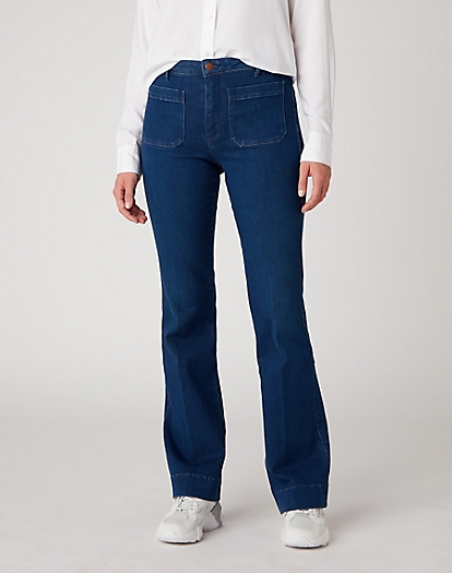 Flare Jeans in Deep Water