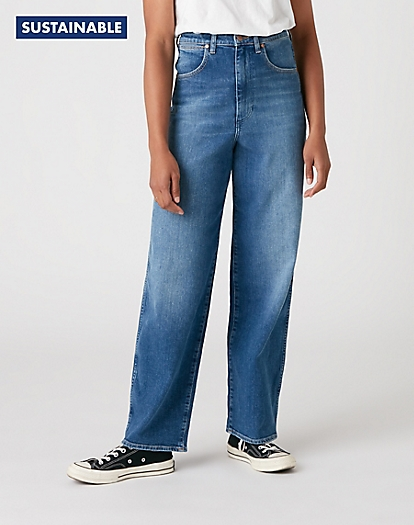 Wide Barrel Jeans in Carefree