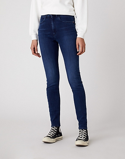 High Skinny Jeans in Solar Blue
