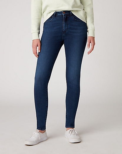 High Rise Skinny Jeans in Noble Blue