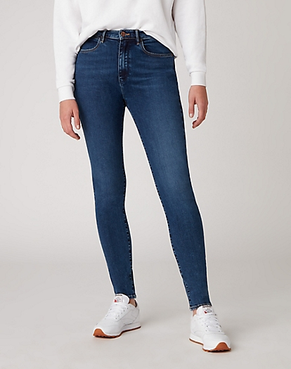 High Rise Skinny Jeans in Star Blue