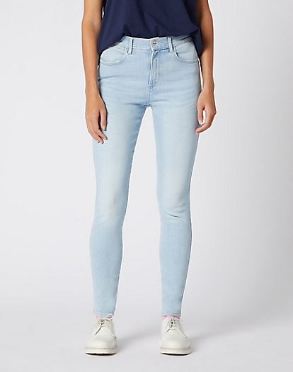 High Rise Skinny Jeans in Paradise Blue
