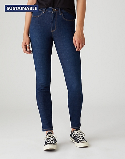 High Skinny Jeans in Night Blue