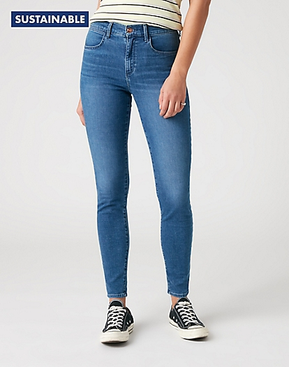 High Skinny Jeans in Light Breeze
