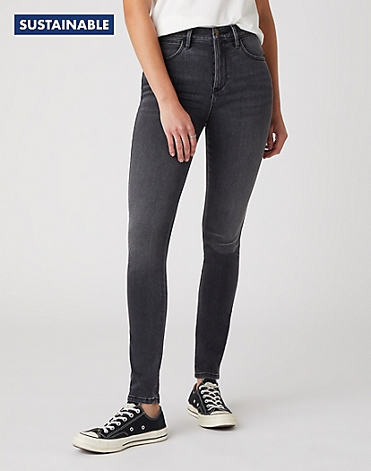 High Skinny Jeans in Soft Storm