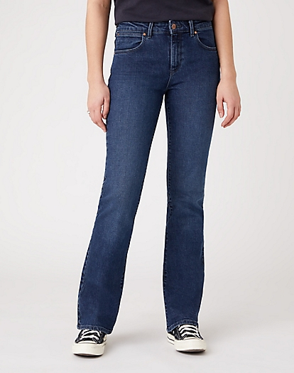 Bootcut Jeans in Bonfire Blue