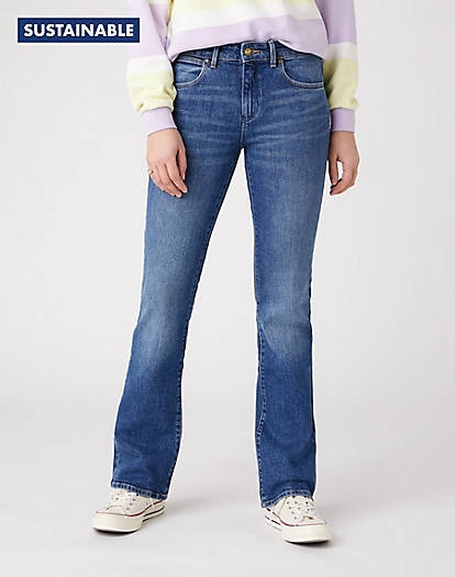 Bootcut Jeans in Air Blue