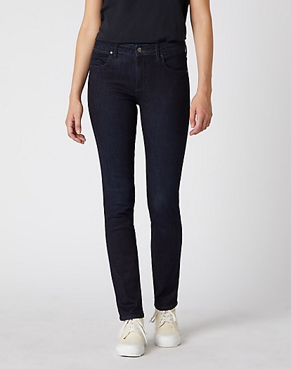 Slim Jeans in Blue Black