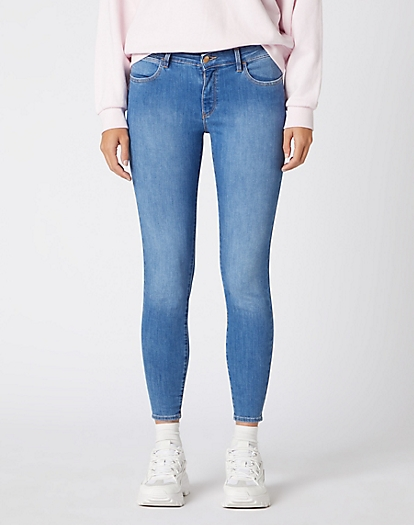 Skinny Crop Jeans in Featherlight