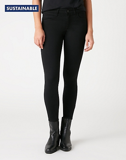 Skinny Crop Pants in Black