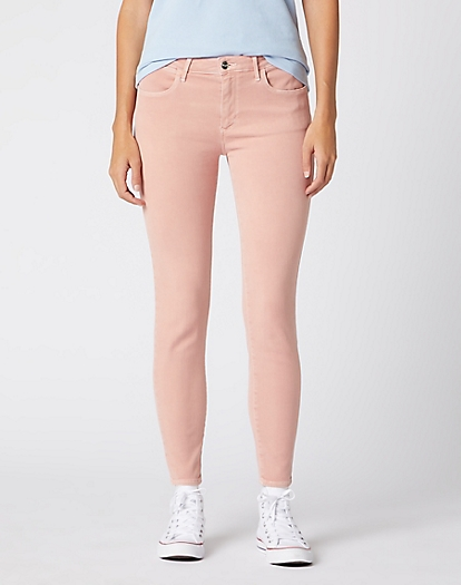 Skinny Crop Pants in Paradise Pink