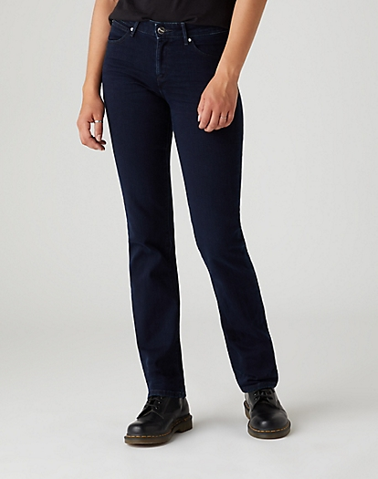 Straight Jeans in Blueblack