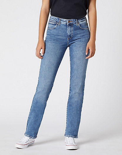 Straight Jeans in Water Blue