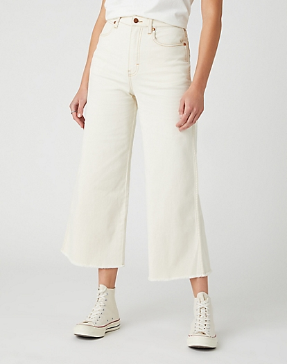 World Wide Cropped Jeans in Cotton Wood