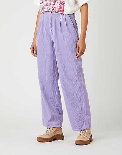 PLEATED BARREL IN LILAC