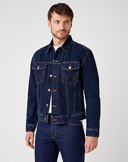 Authentic Western Jacket in Blue Black