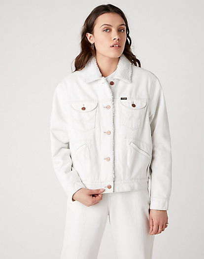 Sherpa Jacket in Winter White