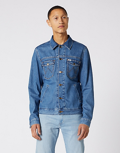 Regular Denim Jacket in Bora Blue