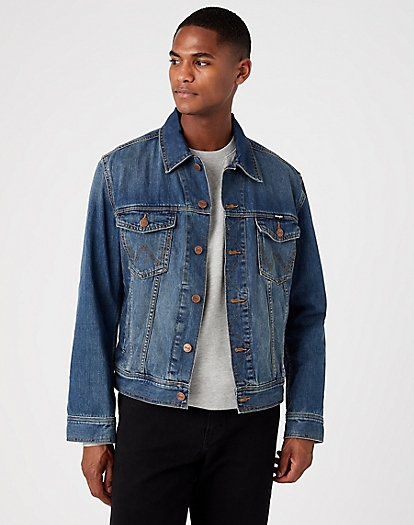 Classic Denim Jacket in Mid Stone
