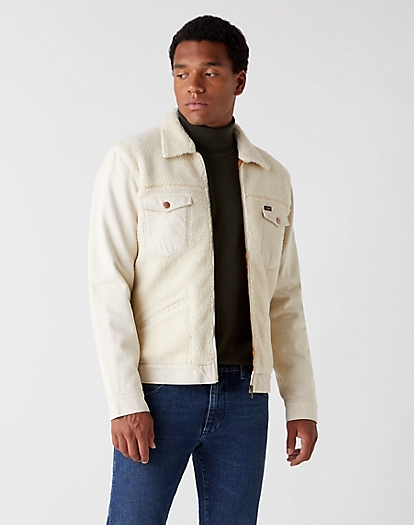 Winter Sherpa Jacket in Winter White