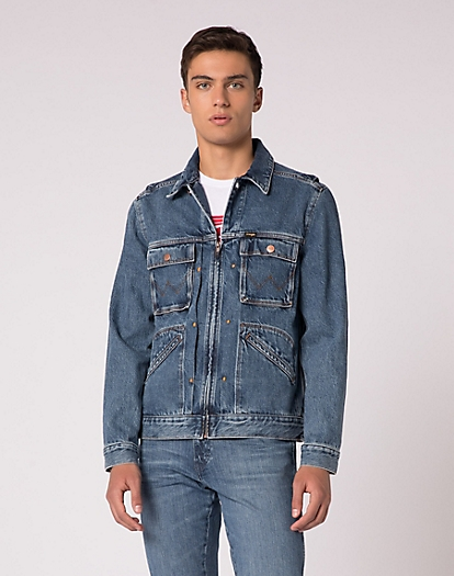 Utility Denim Jacket in Utility Blue