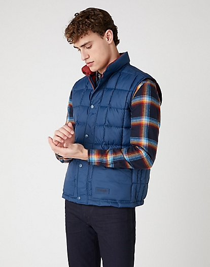 The Vest in Dark Blue Teal