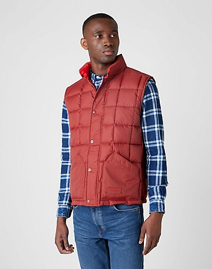 The Vest in Rusty Brown