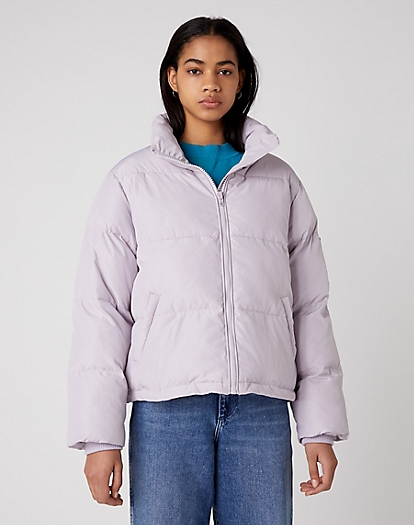 New Short Puffer in Iris Purple