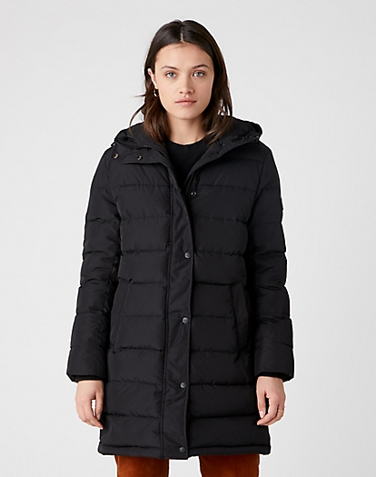 Long Puffer in Black