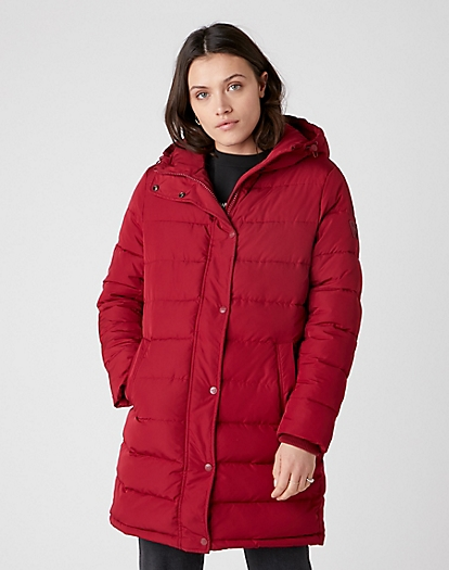Long Puffer in Rumba Red