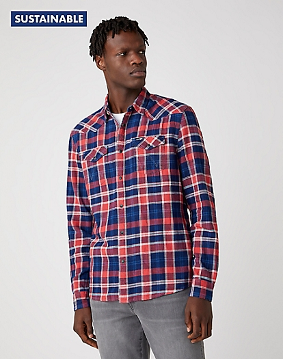 Western Shirt in Rococco Red