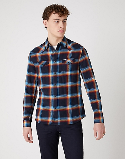 Western Shirt in Navy