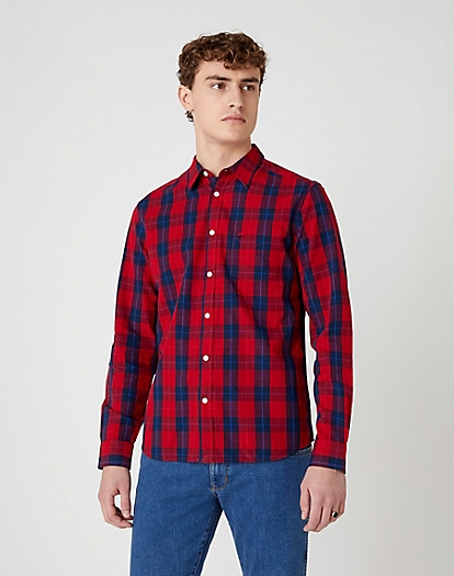 One Pocket Shirt in Mars Red