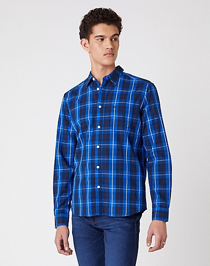 One Pocket Shirt in Victoria Blue
