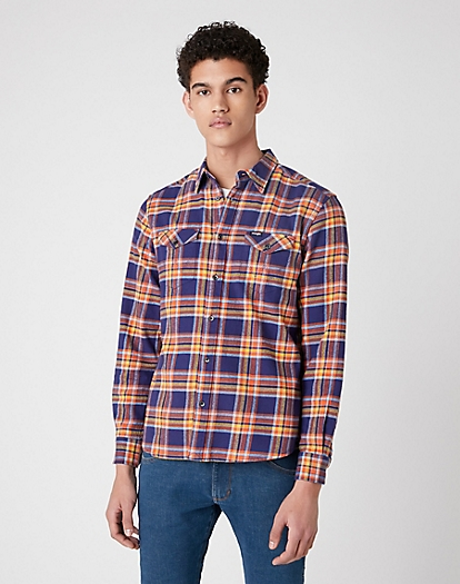 Two Pocket Flap Shirt in Patriot Blue