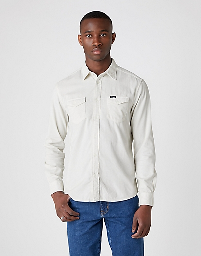 Two Pocket Flap Shirt in Lunar Rock Grey